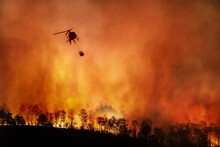 Fire Fighting Helicopter Carry...