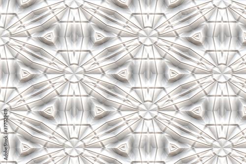 Vászonkép convoluted snowflake futuristic art
