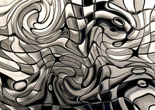 Abstract Geometric Pattern With Fabric Texture