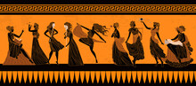 Greek Mythology Muses Clio, Euterpe, Thalia, Melpomene, Terpsichore, Erato, Polymnia, Ourania And Calliope,