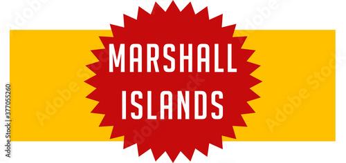 Obraz na plátně web Label Sticker Marshall Islands