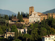 Italia, Toscana, Firenze, veduta della città. e chiesa di San Miniato al Monte.