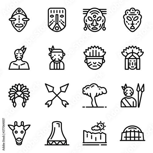 Pack of Tribal Icons Fototapeta