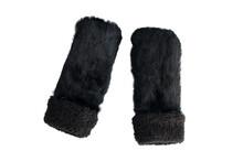 Pair Of Furry Black Mittens Is...