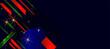 Merry Christmas gold frame vector elegant on dark banner design of sparkling lights garland