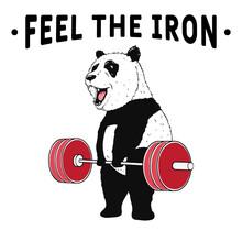 Panda Weightlifter