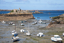 The Port Of Loguivy From The Sea At Low Tide