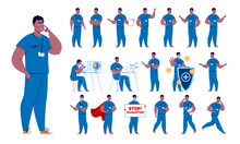 Doctor In Various Poses. Chara...