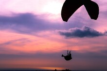 Silhouette Of A Kite - Sunset ...