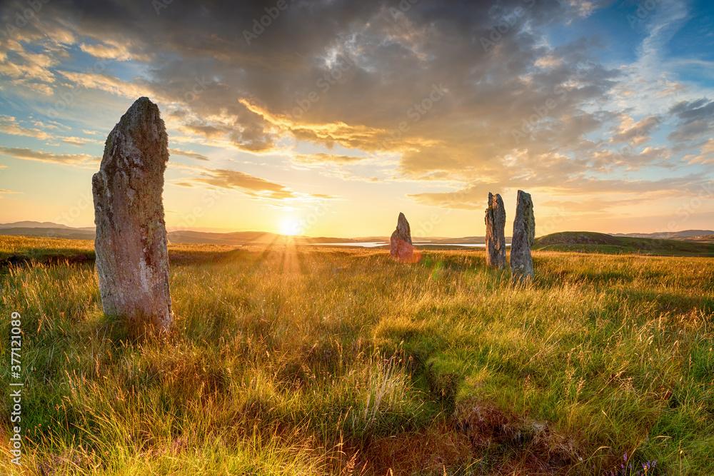 Fototapeta Standing stones at the Callanish IV stone circle