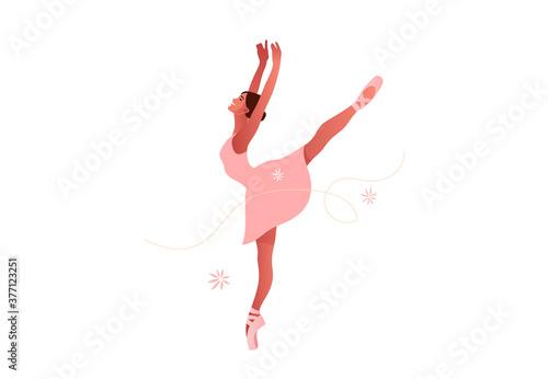 Beautiful ballerina flat vector set illustration Fototapet