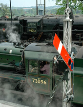 Semaphore Signal And Steam Locos