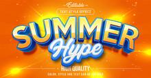 Editable Text Style Effect - Summer Theme Style.