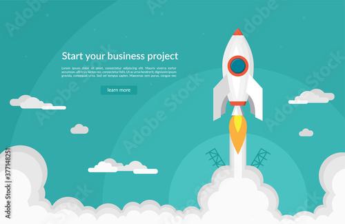 Obraz na plátne Business startup concept in flat design style