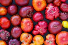 Texture Of Fresh Tomatoes. Fla...