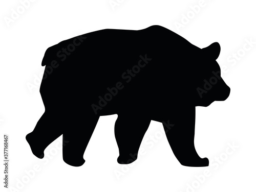 Papel de parede wild bear beast animal silhouette