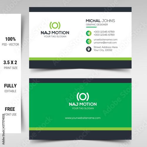 Modern business card template Tapéta, Fotótapéta