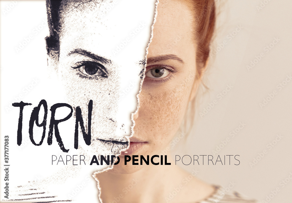 Fototapeta Torn Paper Photo Effect