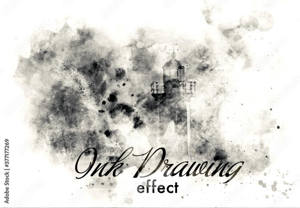Fototapeta Ink Painting Photo Effect