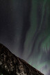 Northern light aurora in the sky