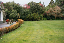 Manicured Garden With A Small ...