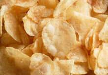 Potato Chips In Closeup