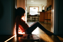 Silhouette Of Child In Home
