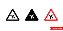 Low Flying Aircraft Sign Icon ...