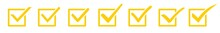 Check Mark Checkbox Square Icon Yellow   Checkmark Illustration   Tick Symbol   Voting Logo   Approved Sign   Isolated   Variations