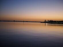 Port Melbourne Beach At Sunset...