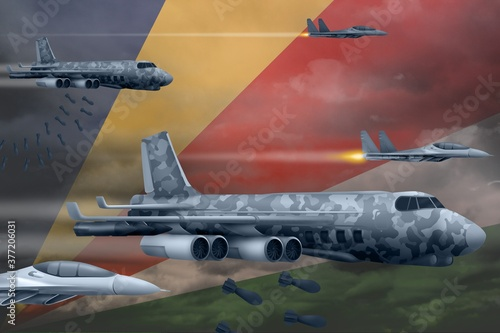 Fotografia Seychelles air forces bombing strike concept
