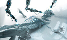 Robotic Arms Examining Human S...