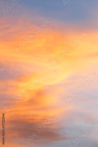Fototapety, obrazy: beautiful colorful sky and cloud in twilight time background