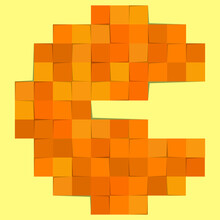 Pacman Illustration In Pixel F...