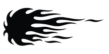 Classic Tribal Hotrod Muscle Car And Motorcycle Flame Vector Silhouette