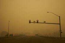 Traffic Light On The Road Agai...