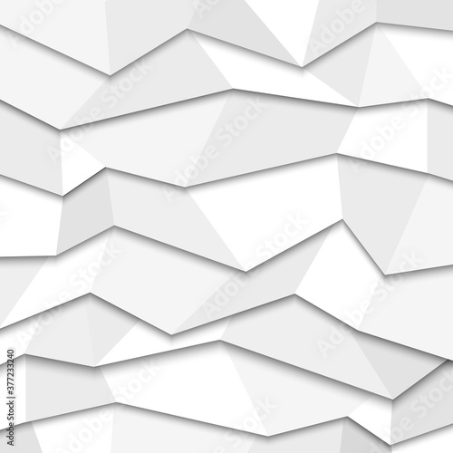 Photographie 3d white paper background - origami style