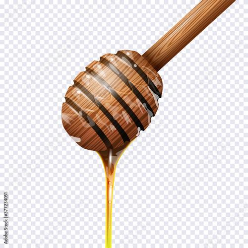 Honey dipper on transparent background Poster Mural XXL