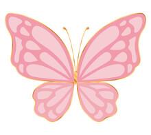 Cute Pink Butterfly Vector Design