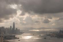 2 June 2207 The Sun Light At Victoria Harbour, Hong Kong