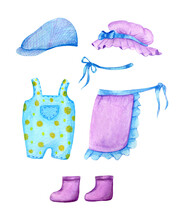 Clipart Garden Clothes In Wate...
