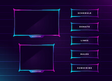 Modern Neon Colour Twitch Streaming Panel Set