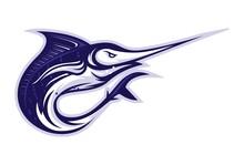 Blue Marlin Fish Logo Illustra...