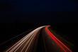 canvas print picture - Autobahn bei Nacht