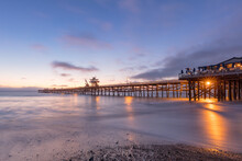Dramatic San Clemente Pier Sun...