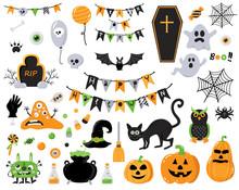 Set Of Hallowen Design Elements