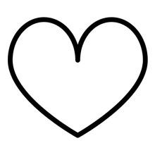 Romance Line Style Icon. Suita...