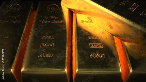 Fotografering 1kg Fine Gold Bars