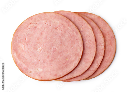 Carta da parati boiled ham sausage slices