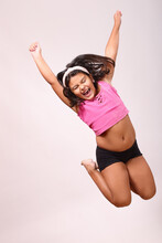 Screaming And Jumping Girl